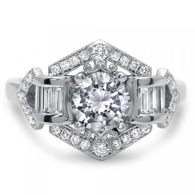 Truly timelessly designed diamond engagement ring from Timeless Designs